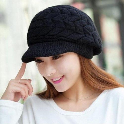 Women Knitted Hat Winter Warm Wool Hat