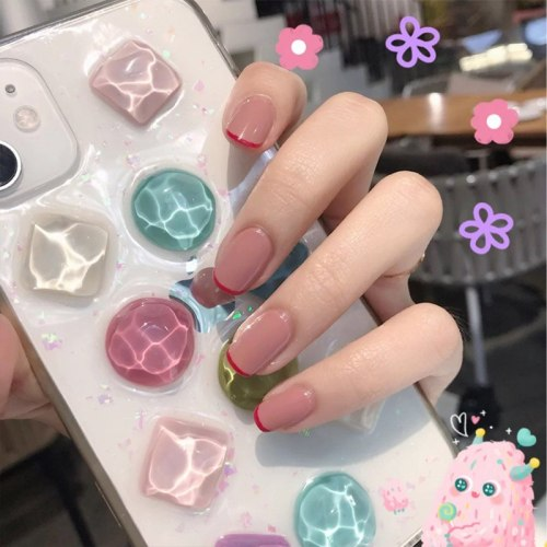 24pcs Fake Press on Nails Coffin Nails