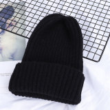 Winter Solid Color Wool Knit Beanie
