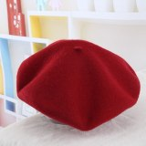 Women Bonnet caps Wool Solid Beret Caps