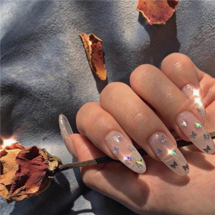 24pcs Fake Press on Nails Coffin Nails