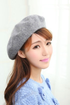 Women Bonnet caps Wool Solid Beret Caps