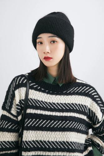Rabbit Fur Winter Hats For Women Warm Beanie Hats