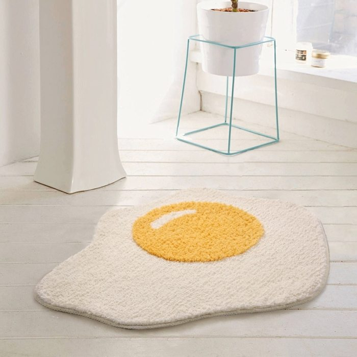 Egg Bathroom Rug Funny Entrance Carpet