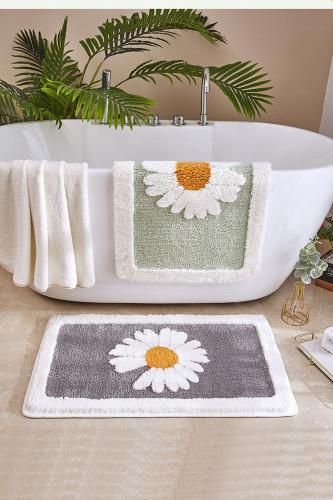 Bathroom Mat Daisy Bath Rug Non-Slip Mat