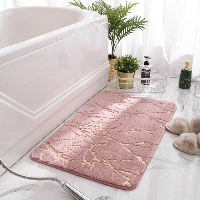 Fluffy Faux Rabbit Fur Floor Rugs Bathroom Mat