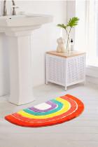 Semicircle Carpet Plush Rug Non Slip Foot Mat