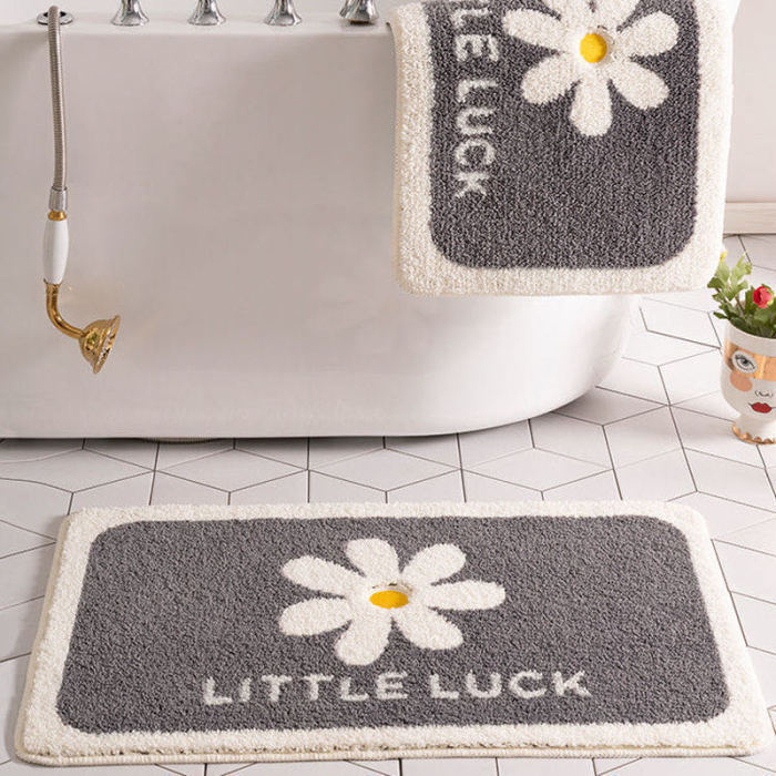 Fluffy Bathroom Absorbent Carpet Cartoon Bathroom Door Mat