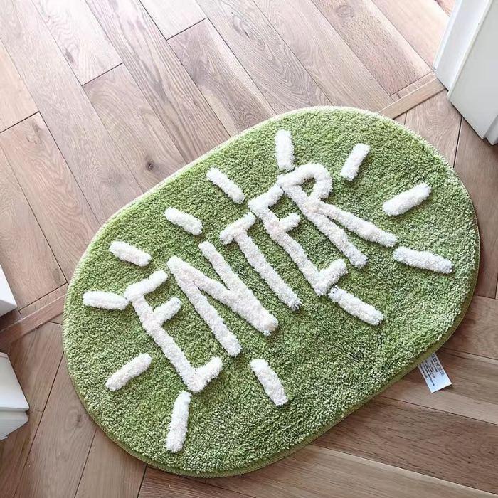 Cute Fluffy Rug Bathroom Door Mat Home Decor