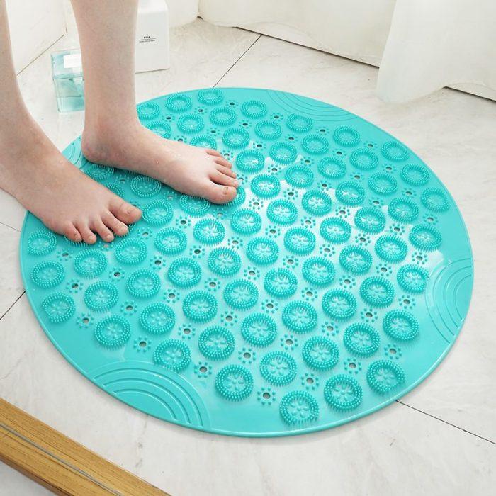 55cm Non-slip Round Bathroom Mat Massage Pad