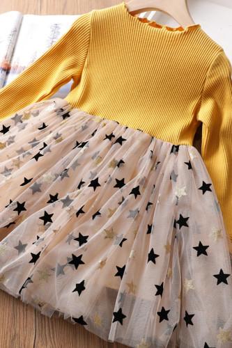 Baby Girls Long Sleeve Sequined Princess Dress