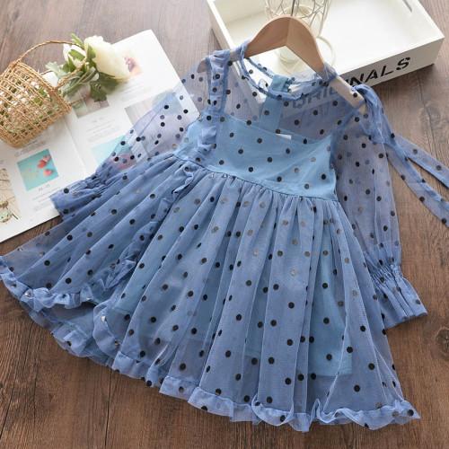 Baby girls Princess Dress Sleeveless Dots Clothes