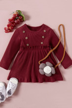 Baby Girl Cotton Solid A-Line Princess Dress