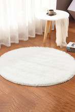 Fluffy Round Area Rug mats for Living Room Faux Fur Carpet