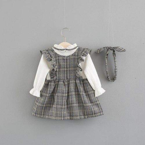 Baby Girl Plaid Long Sleeve Princess Dress