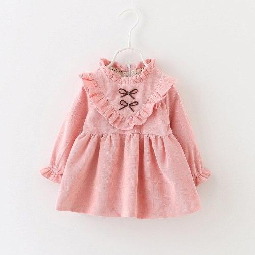 Baby Girl Corduroy Plus Cashmere Princess Dress