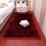 Plush soft bedroom carpet imitation wool pad