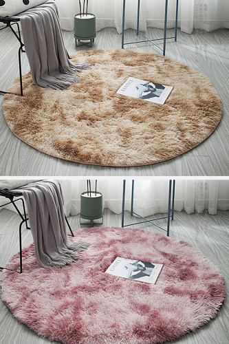 Fluffy Round Rug Carpets Room Decor Faux Fur Rugs