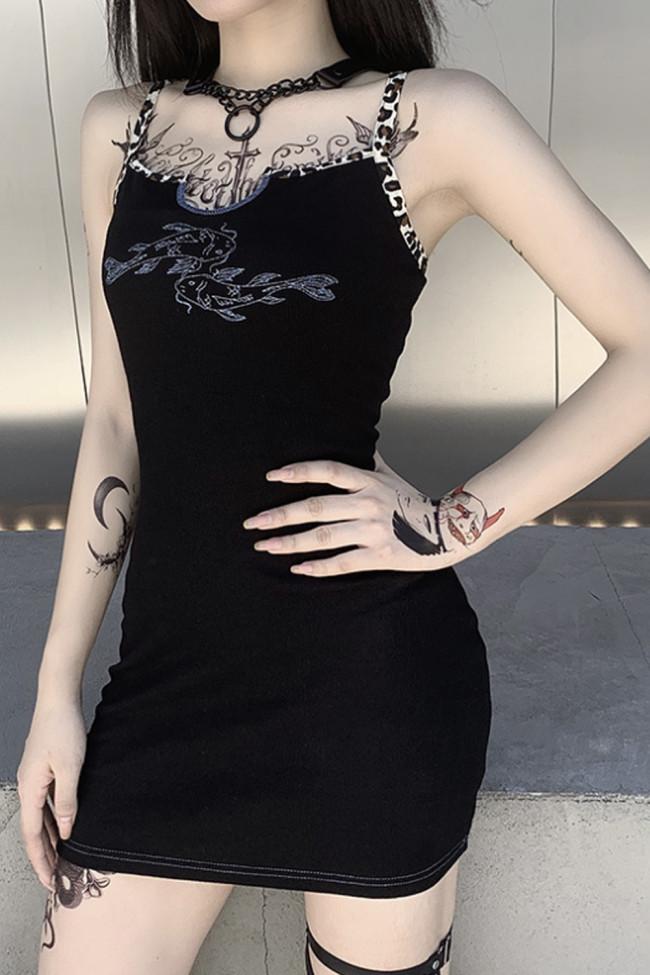 Women Embroidery Sleeveless Sexy Mini Dresses