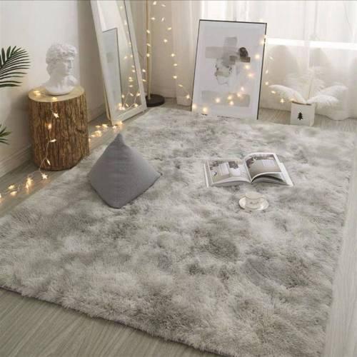 Tie Dyeing Plush Soft Carpets Anti-slip Floor Mats