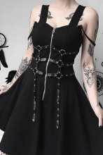 Harajuku mini dresses grunge sleeveless dress