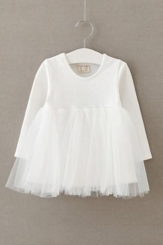 Baby girl long sleeve princess birthday dress