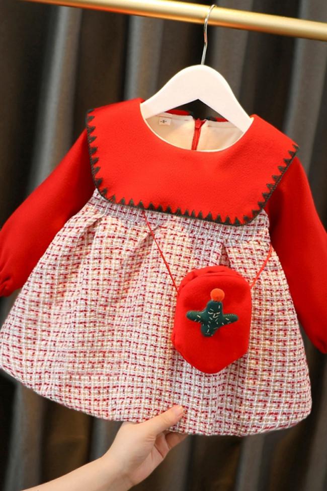 Peter pan Collar Baby Girl Plaid Dress