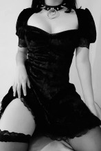 Vintage Lace Black Aesthetic Dress Goth Mini Dress