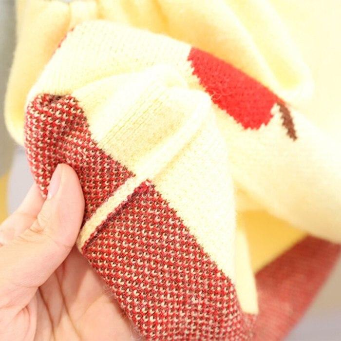 Baby Girls Knitting Sweater Long Sleeve Dress