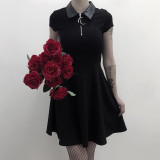Goth Dark Grunge Aesthetic Vintage Pleated Party Dresses