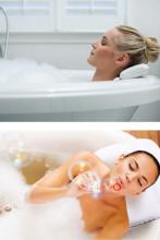 Suction Cup Anti-slip PU Waterproof Sponge Bath Pillow