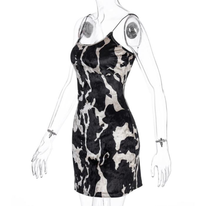 Y2K Aesthetics Spaghetti Strap E-girl Mini Dresses