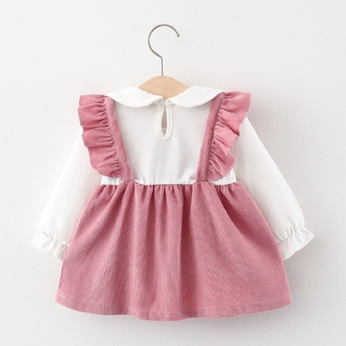 Baby Girl Fake Two Piece Casual Dresses