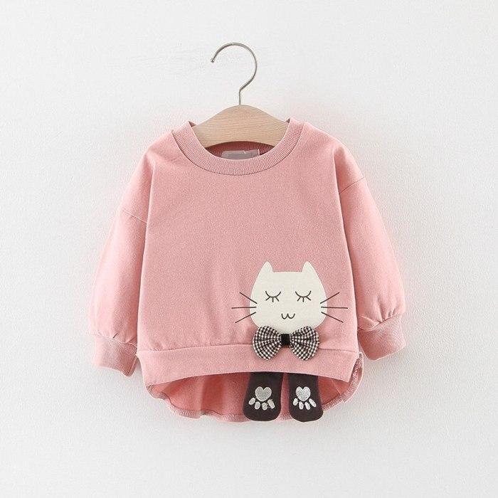 Baby Girls Sweatshirts Kids Cartoon Long Sleeve Pullover Tops