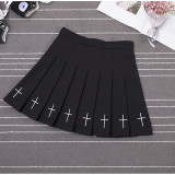 Y2K Gothic Punk Skirts Pleated Egirl Outfits