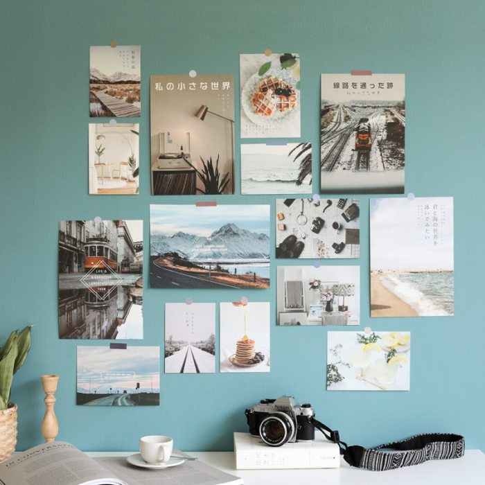 Decoration Card Ideas 15 Sheets Wall Sticker Greeting Card