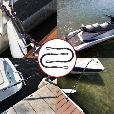 2Pcs Set Bungee Dock Line Mooring Rope for Boat Kayak Accessories