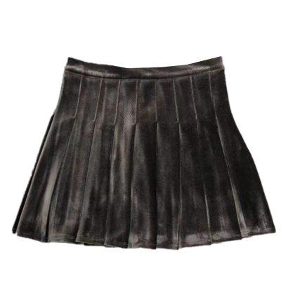 Velvet Skirt Gothic Punk Pleated Jk Skirt