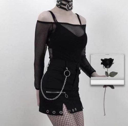 Gothic A-line Slim Harajuku Mini Skirt