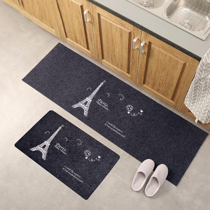 Kitchen Mat Anti-slip Area Rugs Printed Carpet