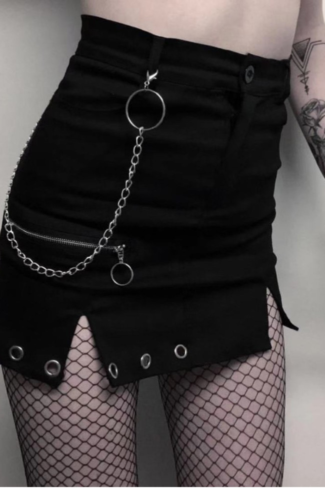 Gothic A-line Slim Harajuku Mini Skirt