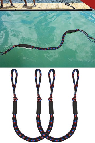 2Pcs Set Bungee Dock Line Mooring Rope for Boat Kayak Accessories