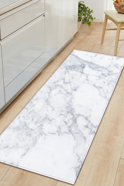 Marble Style Printed Kitchen Mat Area Rugs