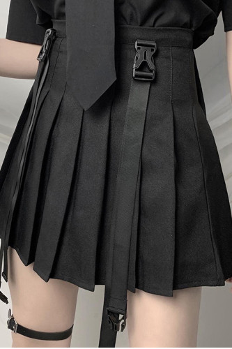 Pleated Streetwear Gothic Grunge Mini Skirts