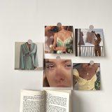 Retro Decorative Card 5 Sheets Photo Props Wall Sticker