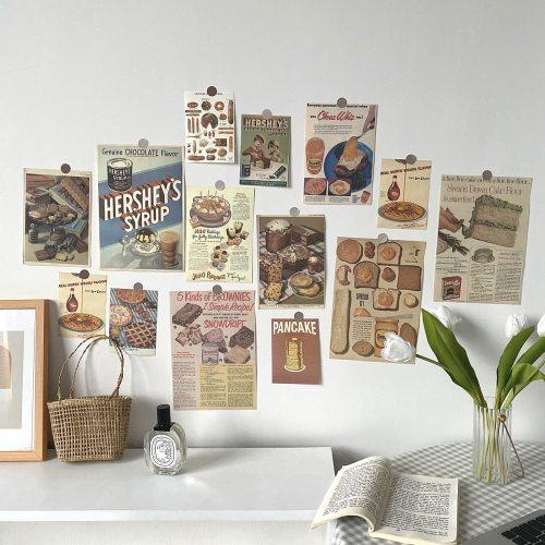 Retro Poster Prints 13 Sheets Postcard Art Paintings