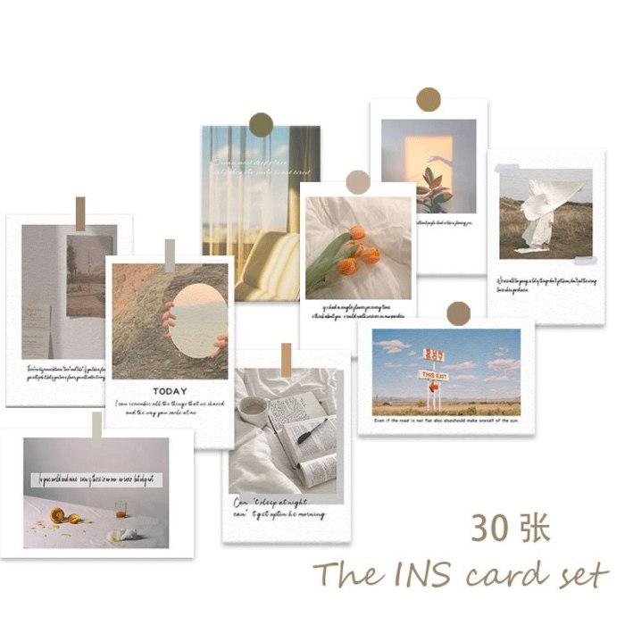 Photo Decoration Card Set 30 Sheets Art Photography Props