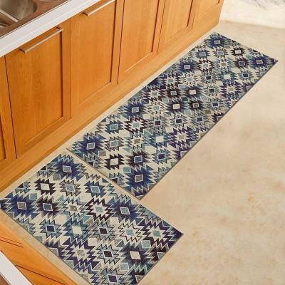 Kitchen Mat Anti-slip Area Rugs Printed Carpet Geometric Bath Mat