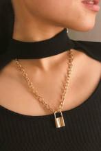 Rock Choker Lock Necklace Pendant Necklaces