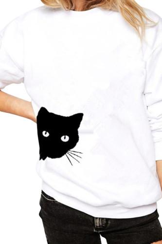 Women Graphic Printing Long Sleeve Shirts Top